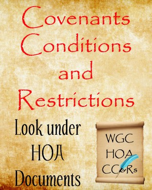 Covenants and Deed Restrictions